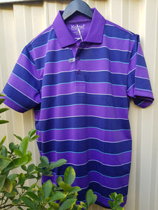SOLID STRIPE S/S POLO