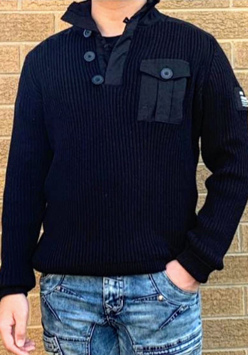 MEN WITH CHEST POCKET JUMPER