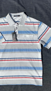 MEN'S SHORT SLEEVE MULTI STRIPE POLOS