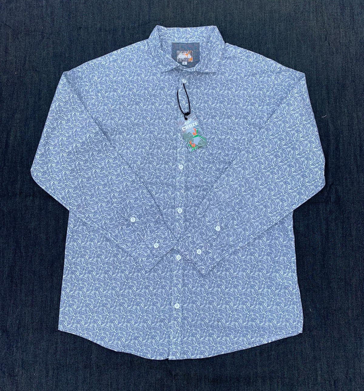 LIGHT BLUE PAISLEY PRINT SHIRT