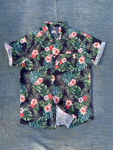 FERN LEAF PRINT SHORT SLEEVE SHIRT