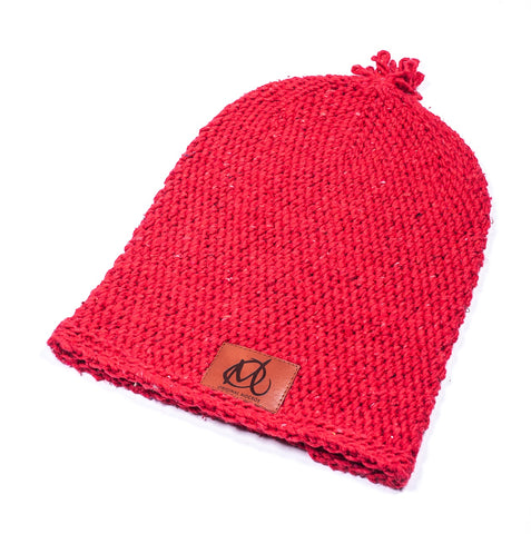 Original Mocros Long Beanie Plain Red