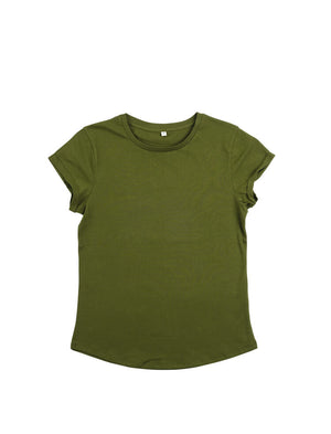 Load image into Gallery viewer, WOMEN'S ROLLED SLEEVE T-SHIRT - EP16