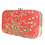 Floral Embroided Clutch