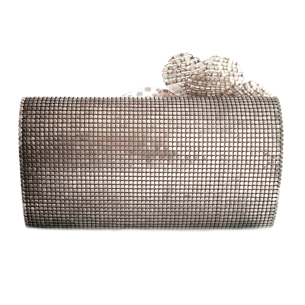 flower brooch clutch-back