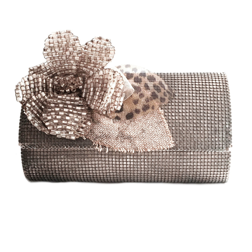 flower brooch clutch-front