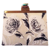 floral ombre monochrome clutch in grey black and white-back