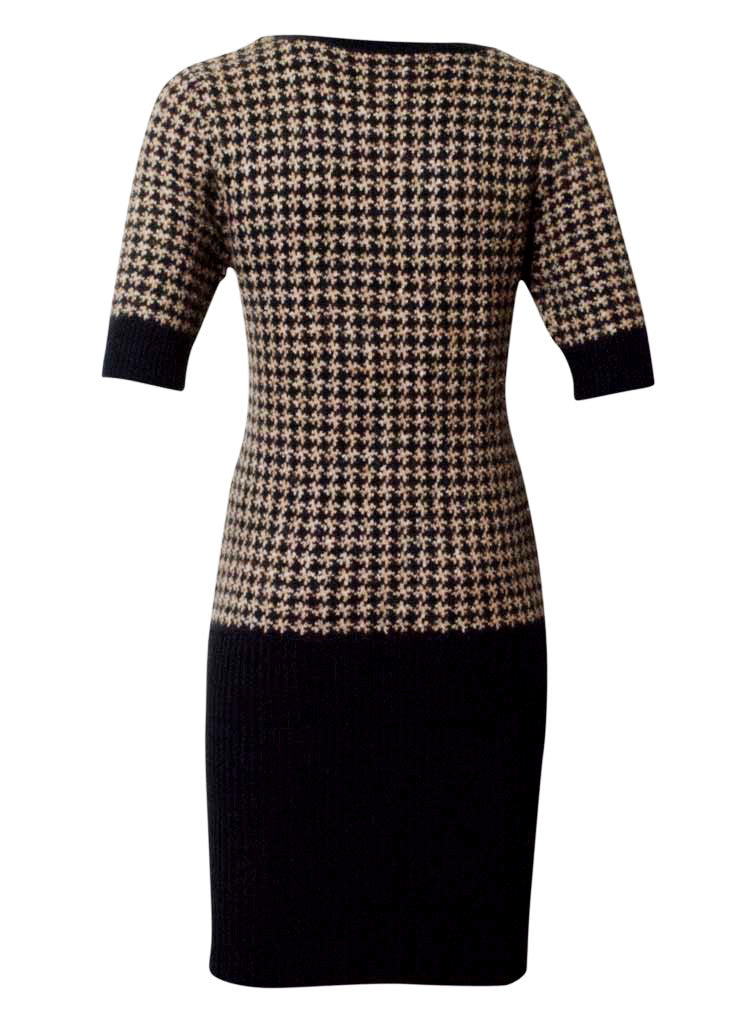 Pattern Wool Dress