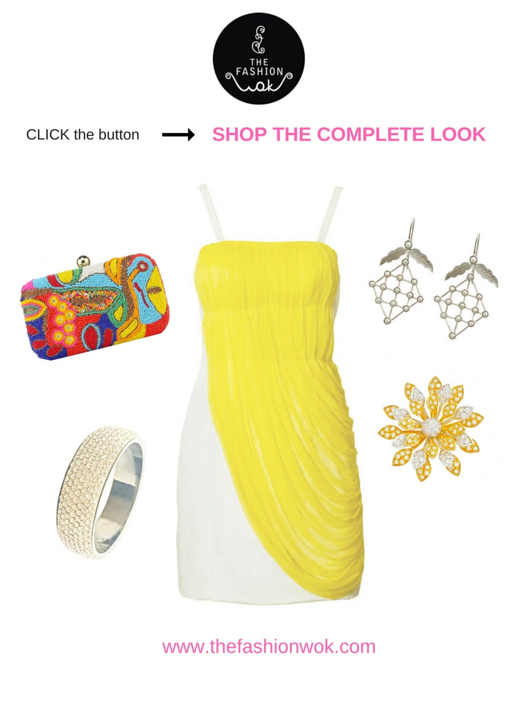 Yellow Drape Dress