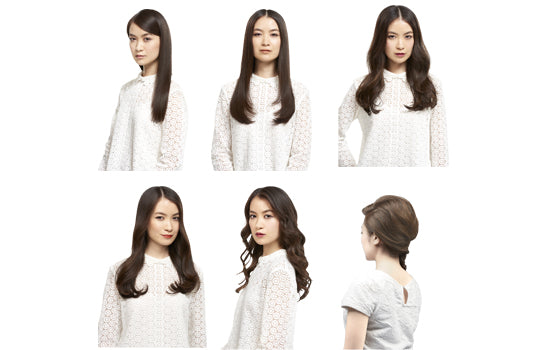Hair arrange with 6ways by attachment