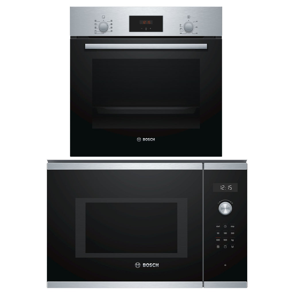 HBF114BR0K 60CM BUILT-IN OVEN & BEL554MS0K 38CM BUILT-IN MICROWAVE