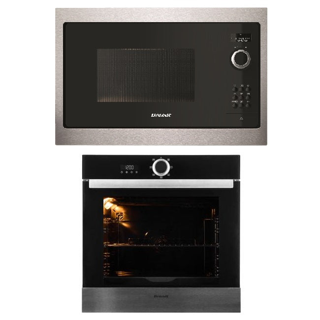 BUNDLE: BXE5532X 60CM BUILT-IN OVEN & BMS6115X BUILT-IN MICROWAVE