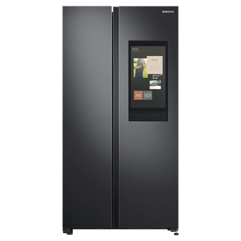 RS62T5F04B4/SS 628L FAMILY HUB SIDE-BY-SIDE FRIDGE (2 TICKS) + FREE GIFT BY SAMSUNG