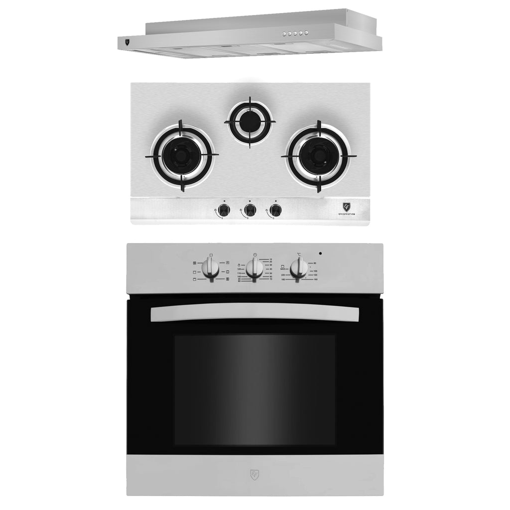 PACKAGE #1: GAS HOB & HOOD & BUILT-IN OVEN + OPTIONAL BUILT-IN MICROWAVE OVEN