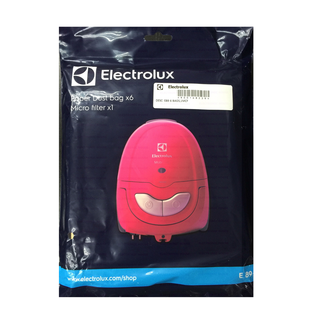 E89 Dust Bag for Vacuum Cleaner Listo MobiOne (Paper DustBag x 6 + Micro Filter x 1)