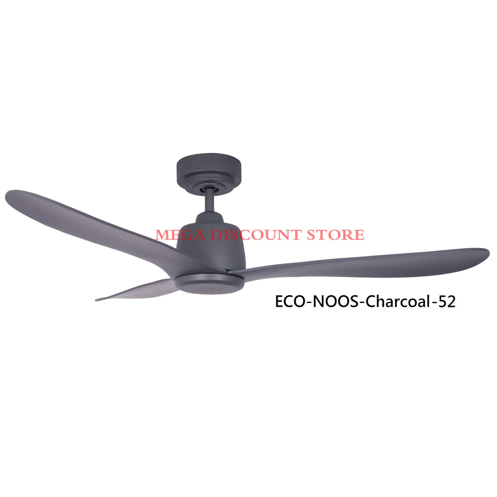 ECO-NOOS 36/42/52-INCH DC MOTOR CEILING FAN ( LED Optional )