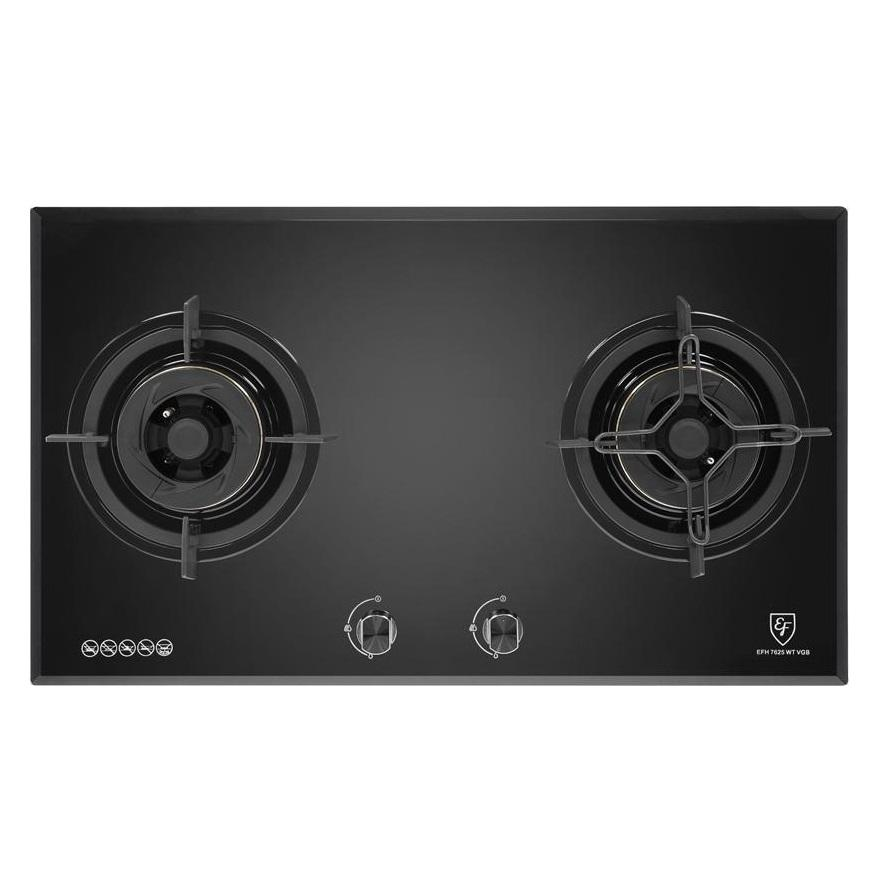 EFH7625 78CM 2-BURNER GLASS BUILT-IN GAS HOB