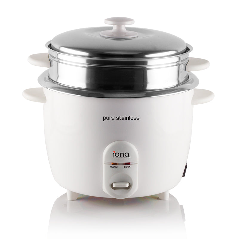 GLRC181 1.8L STAINLESS STEEL RICE COOKER WITH STEAMER