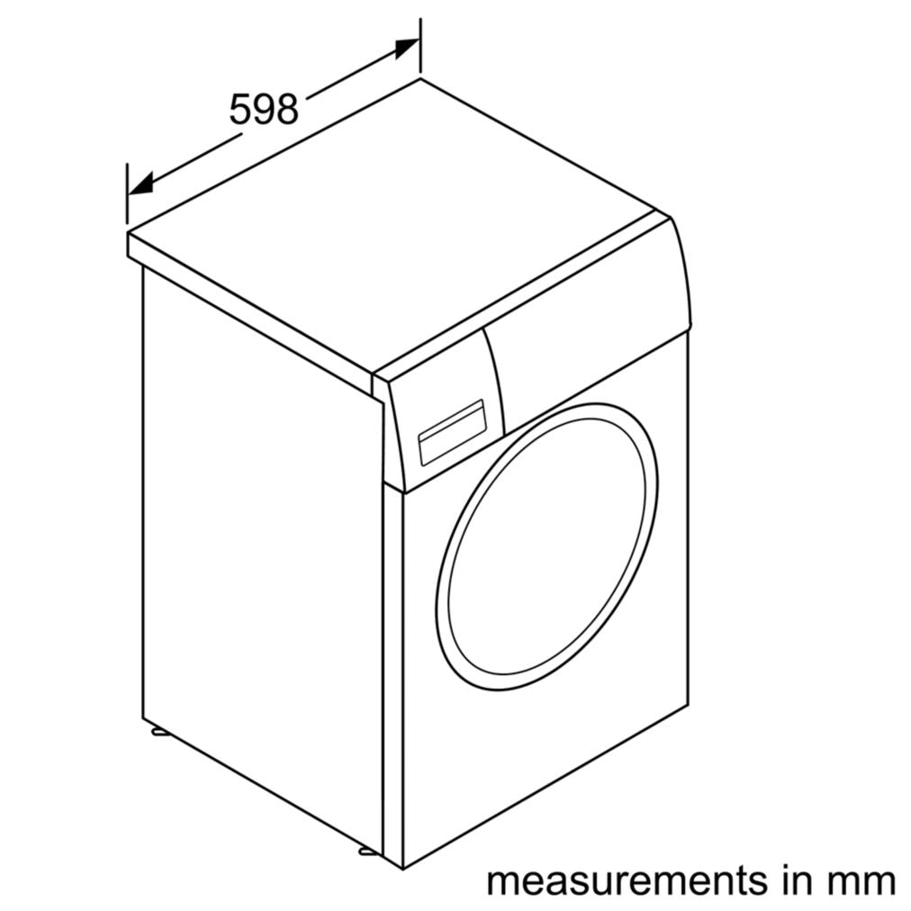 WAW28440SG 8KG FRONT LOAD WASHER (3 TICKS)