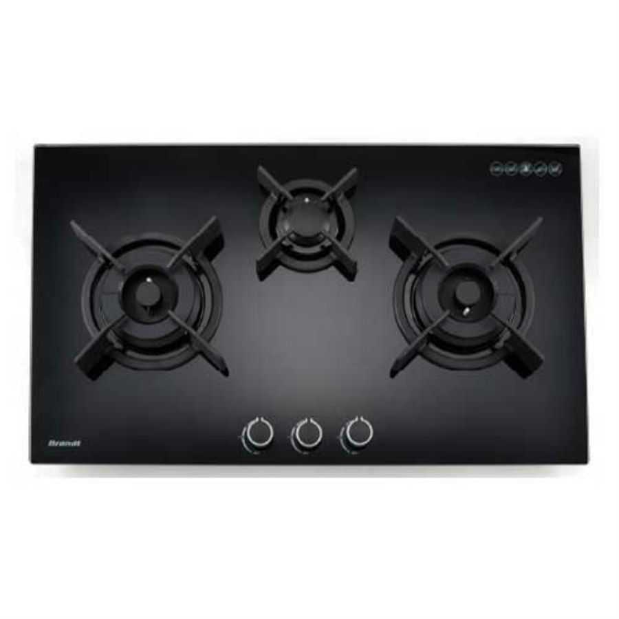BRANDT 2-in-1 Bundle: 90cm Wall Mount Hood + 90cm 3 Burners Hob