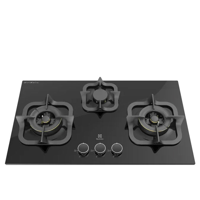 EGT7836CKPC 78CM 3-BURNER GLASS GAS HOB (PUB)