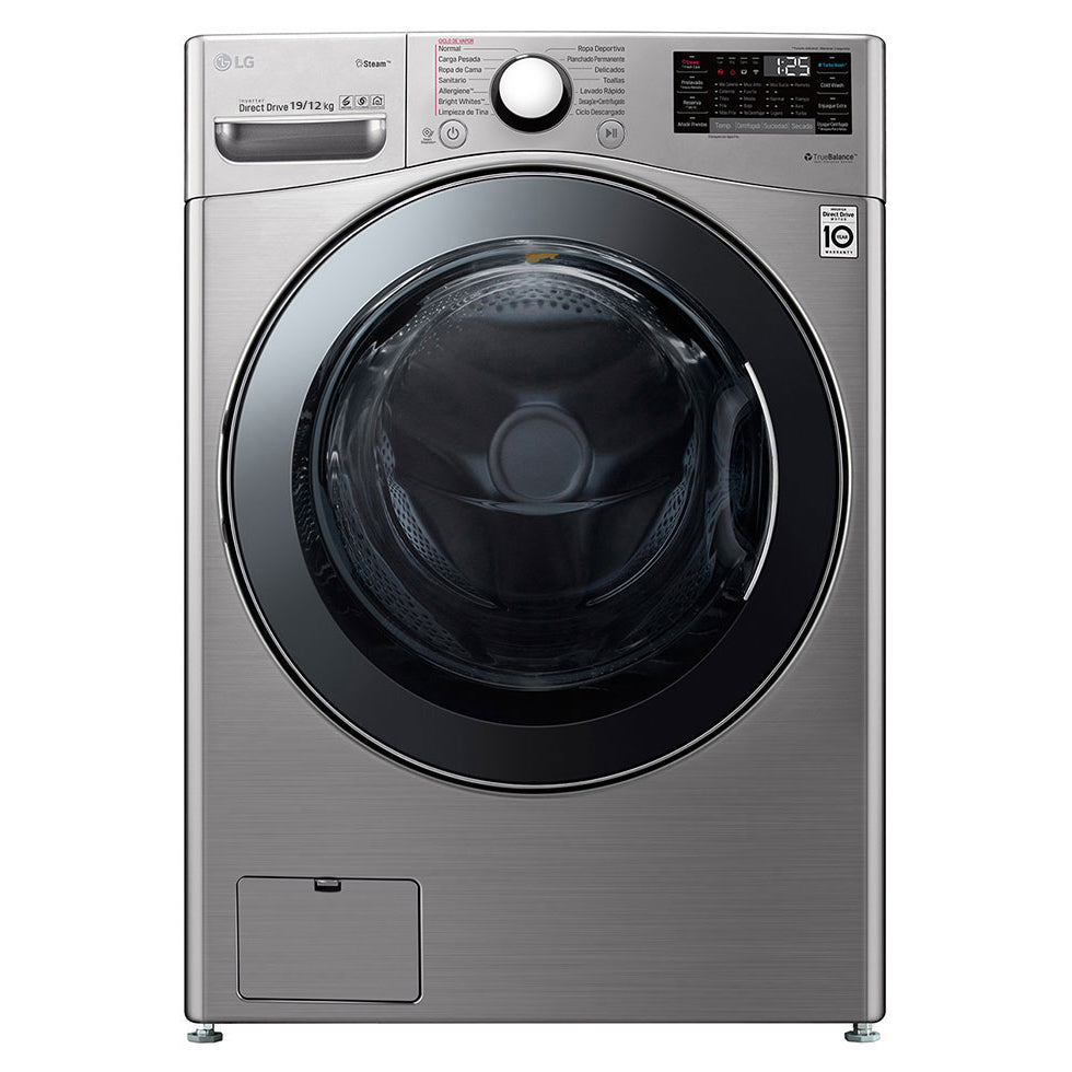 F2719RVTV 19/12KG SMART WASHER DRYER (4 TICKS) + FOC DETERGENT OR $50 GROCERY VOUCHER REDEEM FROM LG