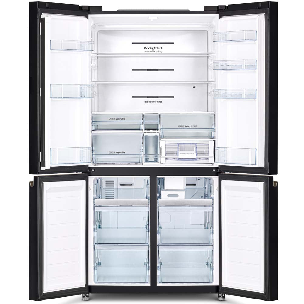 HITACHI R-WB640V0MS 569L 4-DOOR FRENCH (BOTTOM FREEZER) FRIDGE (3 TICKS) [ETA MID NOVEMBER]