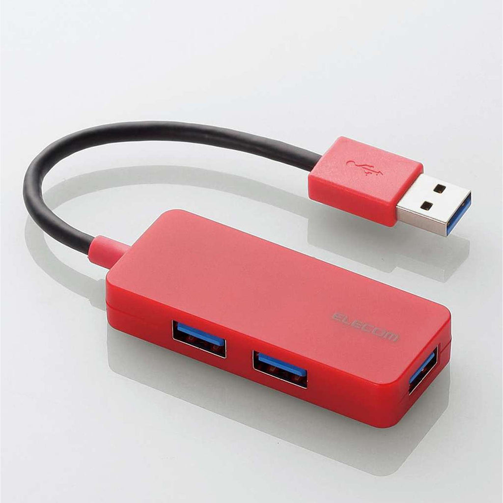 U3H-K315BRD 3 PORT USB 3.0 HUB BUS POWERED (RED)