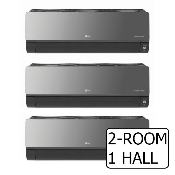 SYSTEM 3 ARTCOOL+ INVERTER MULTI-SPLIT AIRCON WITH WIFI BUILT-IN (5 TICKS) / 2-ROOM + 1 HALL