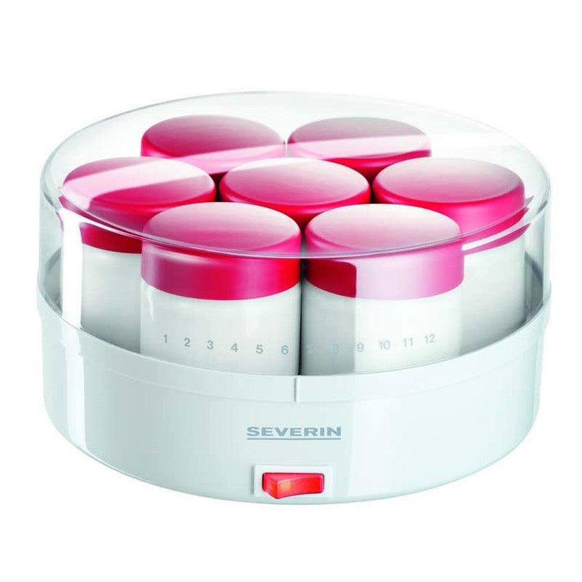 JG 3519 14 Jar Yogurt Maker White/Red