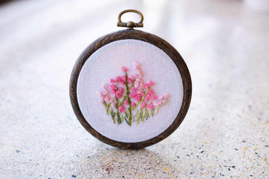 A.06💗カリフォルニアローズの花刺繍製作キット〜