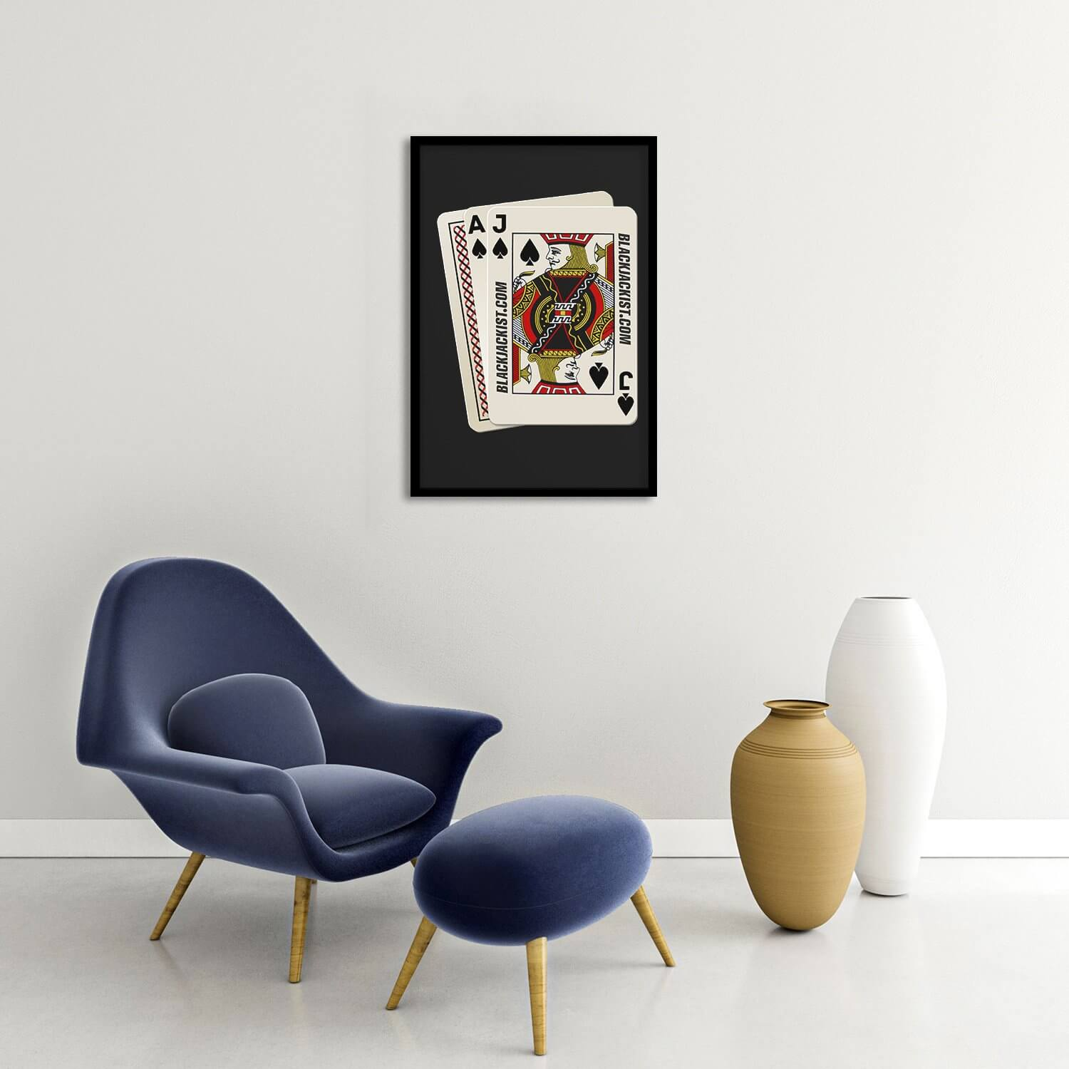 Blackjack Hand Framed Poster