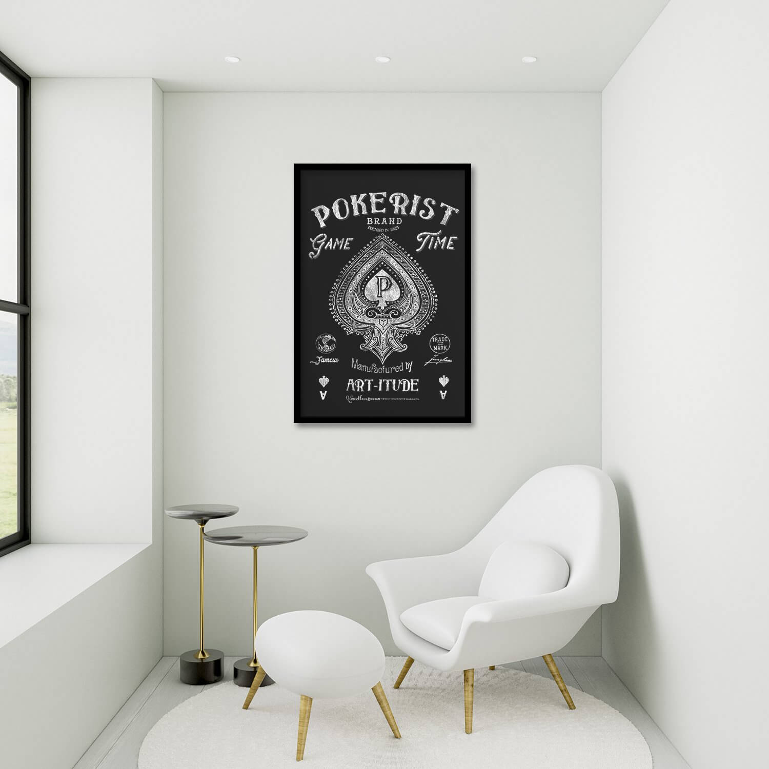 Game Time Pokerist Framed Poster