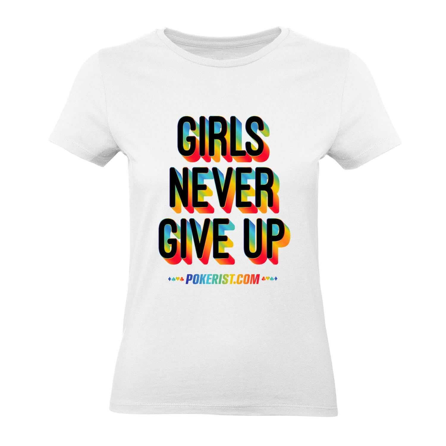 Girls Never Give Up Womens Tee