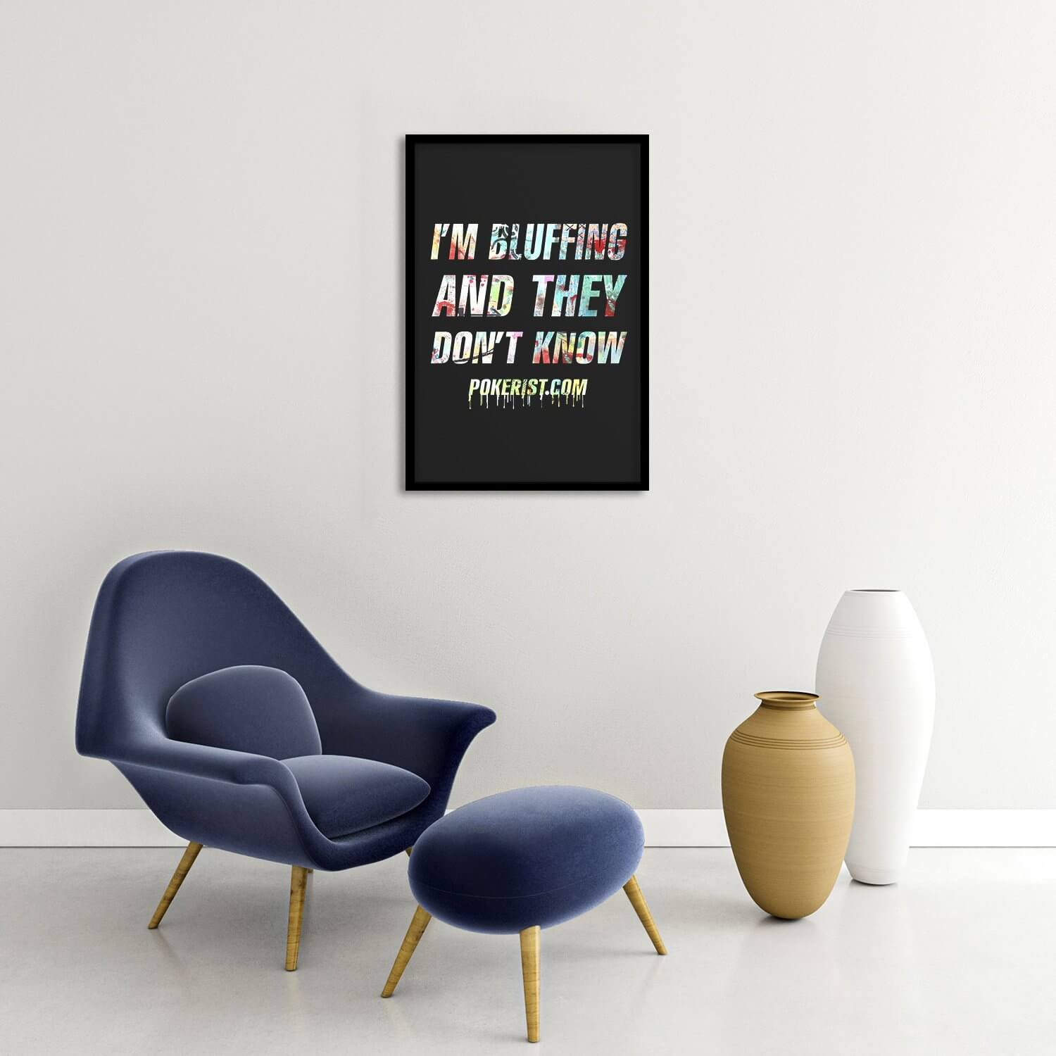 I'm Bluffing Graffiti Framed Poster