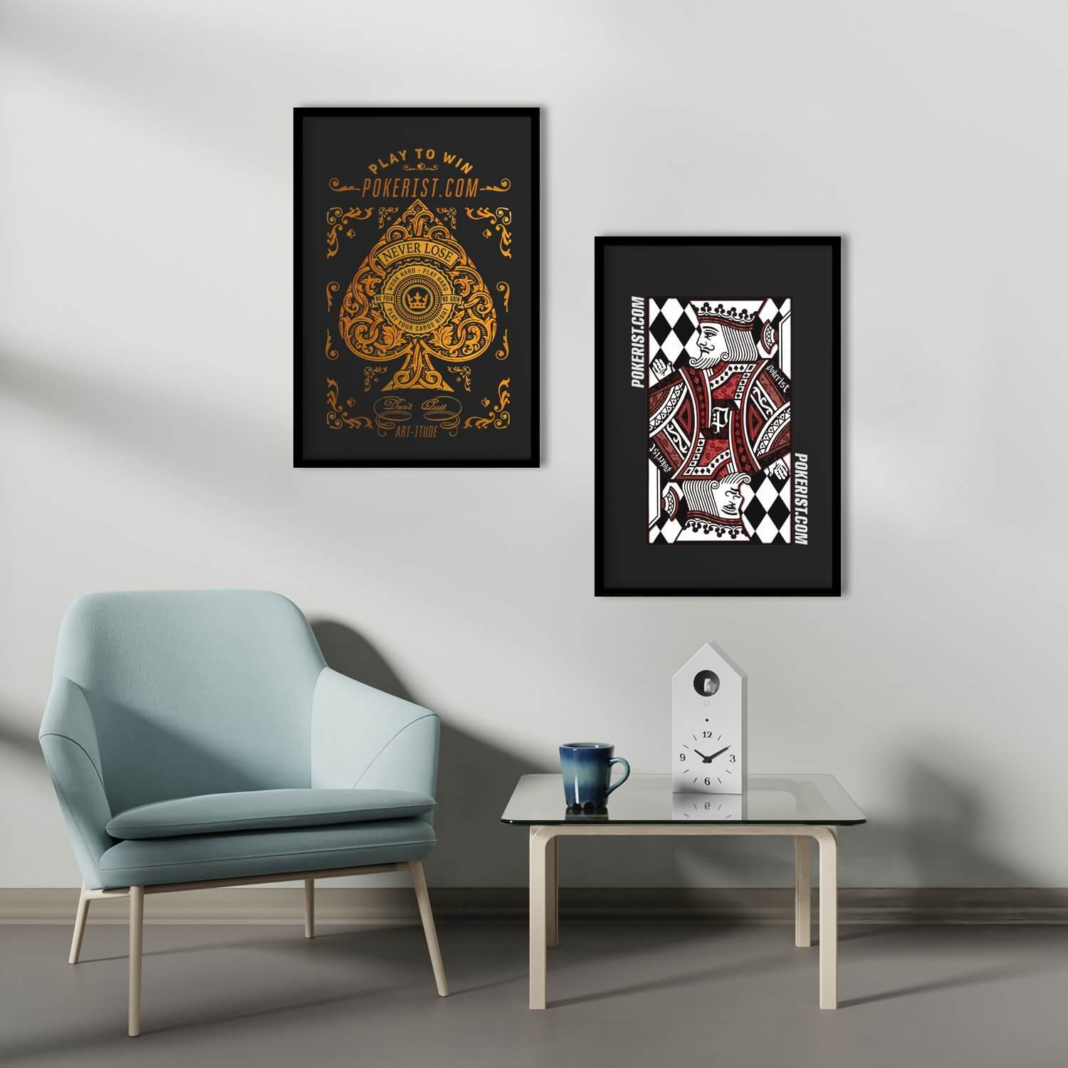 King of Diamonds Framed Poster