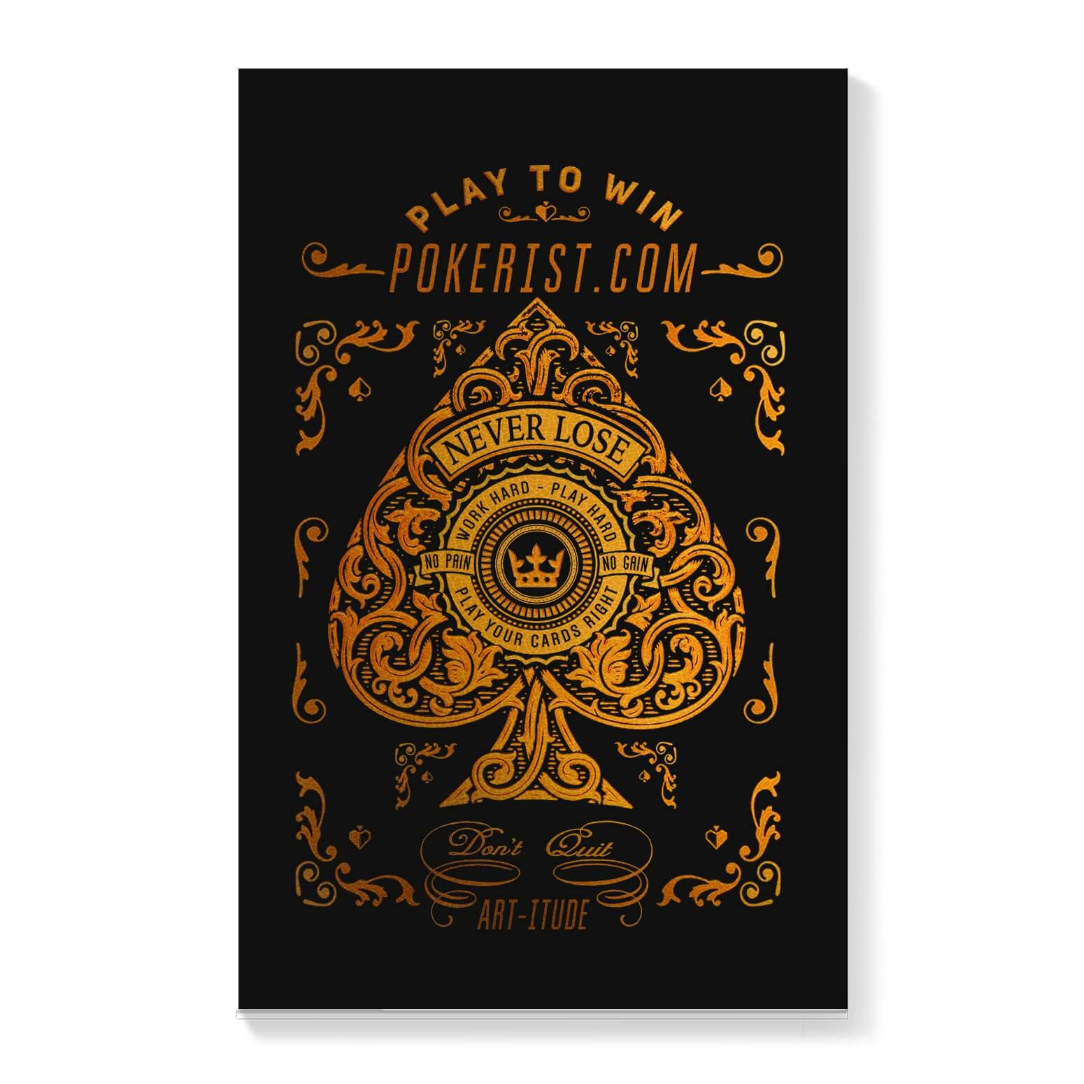Play To Win Ace of Spades Canvas