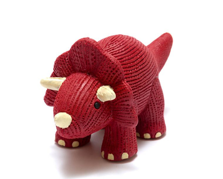 My First Natural Rubber Triceratops Teether and Bath Toy