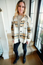 Load image into Gallery viewer, Plaid Button Up Jacket