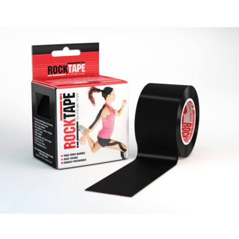 Rocktape Plain Black 5cm x 5mtr Roll