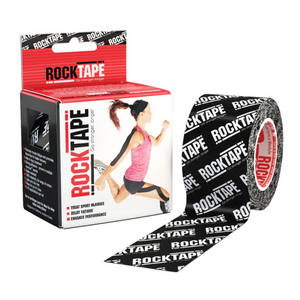 Rocktape Logo Black Pattern 5cm x 5mtr Roll