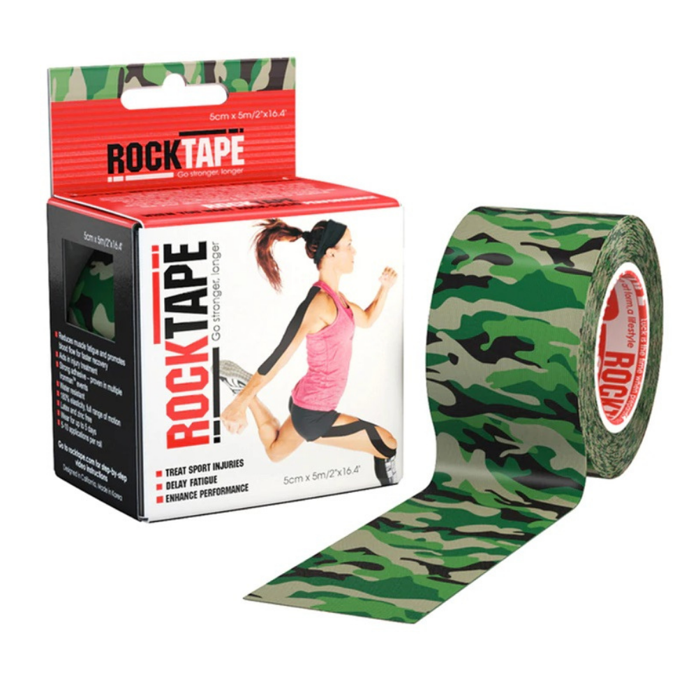 Rocktape Camo Green Pattern 5cm x 5mtr Roll