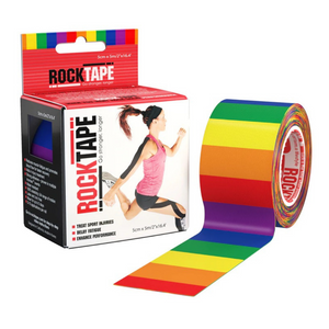 Rocktape Rainbow Pattern 5cm x 5mtr Roll-RockTape New Zealand-RockTape New Zealand