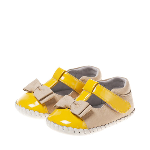 Beige and Yellow Baby Sandal
