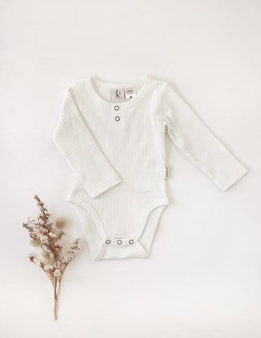 Willow Long Sleeve Bodysuit - Warm White