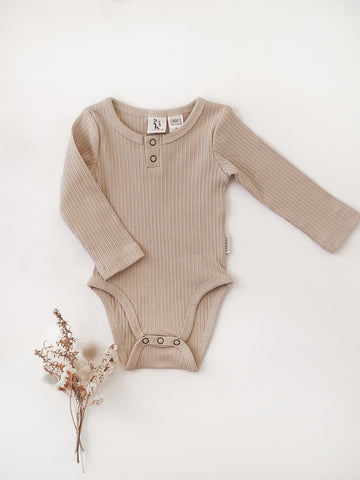Willow Long Sleeve Bodysuit - Fawn