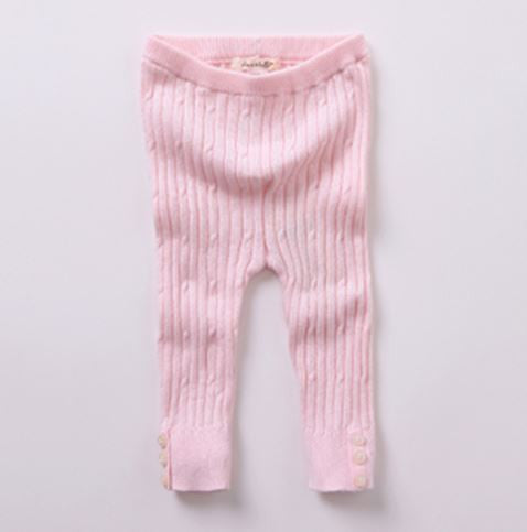 Footless Wool-blend Tights | Pink