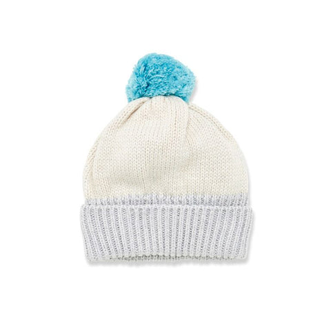 Glacier Blue Knitted Baby Hat