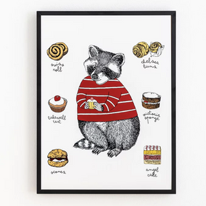 Mr Racoon loves Cake - Print