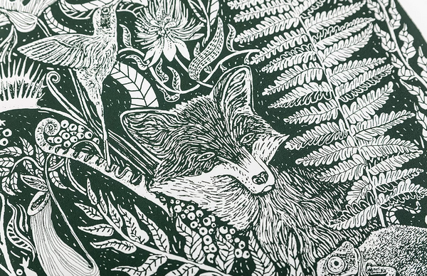 Rainforest Fox - A3 Print